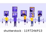 people or tourists looking at... | Shutterstock .eps vector #1197246913