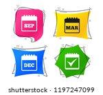 calendar icons. september ...   Shutterstock .eps vector #1197247099