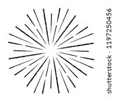 vintage sunburst explosion... | Shutterstock .eps vector #1197250456