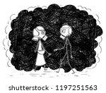 cartoon stick drawing...   Shutterstock .eps vector #1197251563