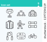 contains such icons as kimono ... | Shutterstock .eps vector #1197254119