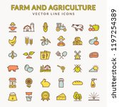 farming and agriculture line... | Shutterstock .eps vector #1197254389