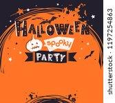 halloween party invitation ... | Shutterstock .eps vector #1197254863