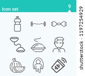 contains such icons as nurse ... | Shutterstock .eps vector #1197254929