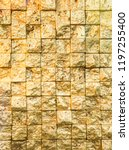 bumpy golden small even squares ... | Shutterstock . vector #1197255400