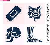 contains such icons as bandage  ... | Shutterstock .eps vector #1197255916