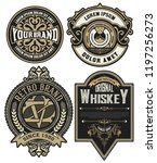 set of 4 labels or badges for... | Shutterstock .eps vector #1197256273