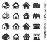 house icons. black scribble...   Shutterstock .eps vector #1197263650