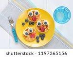 breakfast pancakes for kids.... | Shutterstock . vector #1197265156