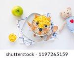 breakfast for kids  children... | Shutterstock . vector #1197265159
