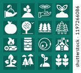 nature filled set of vector... | Shutterstock .eps vector #1197266086