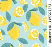 seamless vector pattern with... | Shutterstock .eps vector #1197278773