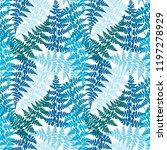 fern frond herbs  tropical... | Shutterstock .eps vector #1197278929
