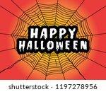 happy halloween message on...   Shutterstock .eps vector #1197278956