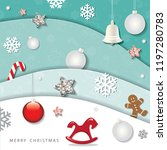 christmas and happy new year... | Shutterstock .eps vector #1197280783