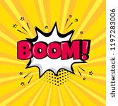 white comic bubble with boom ... | Shutterstock .eps vector #1197283006