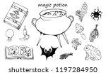 magic potion  set of elements...   Shutterstock .eps vector #1197284950