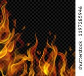 translucent fire flame on left... | Shutterstock .eps vector #1197285946