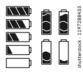 black batteri set icon.... | Shutterstock .eps vector #1197288433