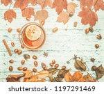 autumn composition  yellow...   Shutterstock . vector #1197291469