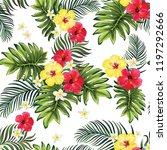 tropical vector seamless... | Shutterstock .eps vector #1197292666