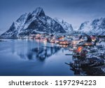 winter landscape with houses in ...