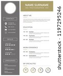 curriculum vitae  modern and... | Shutterstock .eps vector #1197295246