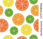 orange  lime  lemon  mandarin ... | Shutterstock .eps vector #1197298006