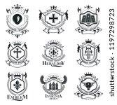 vintage heraldry design... | Shutterstock .eps vector #1197298723