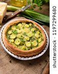 quiche with leeks and cheese | Shutterstock . vector #1197299680