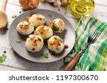 meat stuffed potato dumplings... | Shutterstock . vector #1197300670