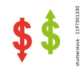 cost minimising icon. cost... | Shutterstock .eps vector #1197301330