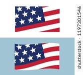 usa sign icon made in usa.... | Shutterstock .eps vector #1197301546