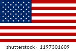 american flag vector icon. | Shutterstock .eps vector #1197301609