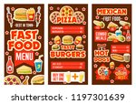 fast food cafe banners of... | Shutterstock .eps vector #1197301639