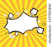 retro rays comic yellow... | Shutterstock .eps vector #1197301846