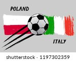 flags of poland and italy   ... | Shutterstock .eps vector #1197302359
