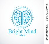 bright mind vector logo or icon ... | Shutterstock .eps vector #1197303946