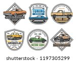 car repair service retro icons... | Shutterstock .eps vector #1197305299