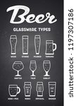 beer glassware types. poster or ... | Shutterstock .eps vector #1197307186