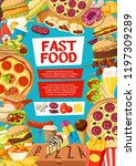 fast food poster with frame of...   Shutterstock .eps vector #1197309289