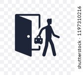 exit interview transparent icon....   Shutterstock .eps vector #1197310216