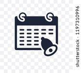 reminder transparent icon.... | Shutterstock .eps vector #1197310996