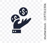 earnings transparent icon.... | Shutterstock .eps vector #1197311506