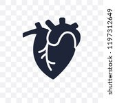 human heart transparent icon.... | Shutterstock .eps vector #1197312649