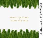 christmas fir background ... | Shutterstock .eps vector #1197320683
