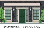 the image of a brick house  the ... | Shutterstock .eps vector #1197324739