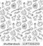 black and white line art... | Shutterstock .eps vector #1197333253