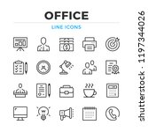 office line icons set. modern... | Shutterstock .eps vector #1197344026