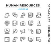 human resources line icons set. ... | Shutterstock .eps vector #1197344230
